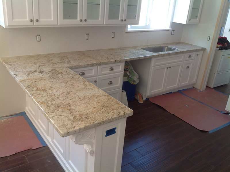 Countertops trinidad tile and granite for Laying out kitchen cabinets