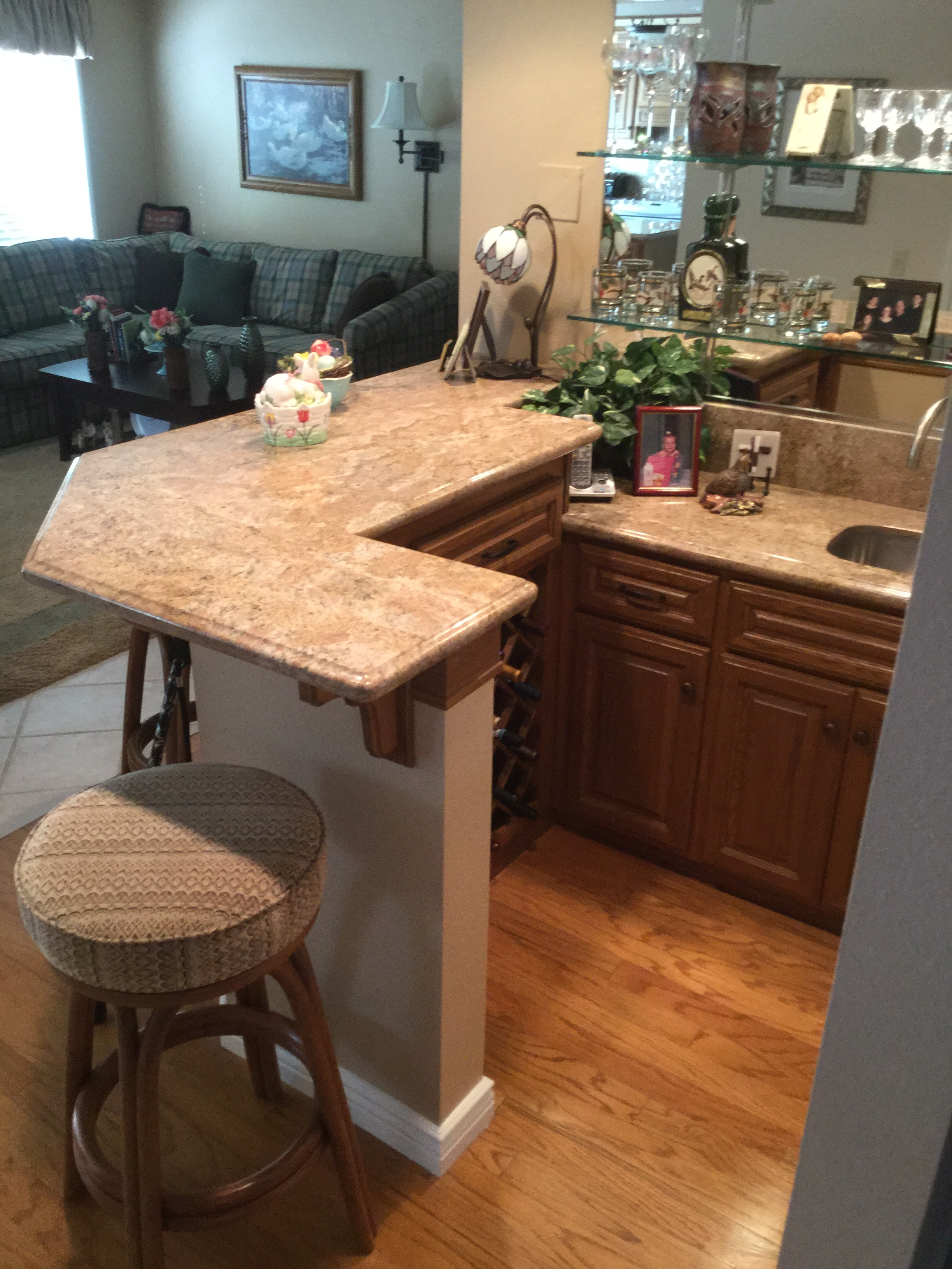 Brea Bar Top   Two Level Beautiful Juaparan Vyara Granite Bar Top With  Stainless Steel Undermount Sink. Custom Cut To Fit With An Ogee Bullnosed  Edge And ...